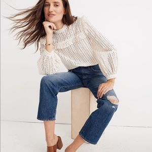 Classic Straight Madewell Jeans Ripped Knee